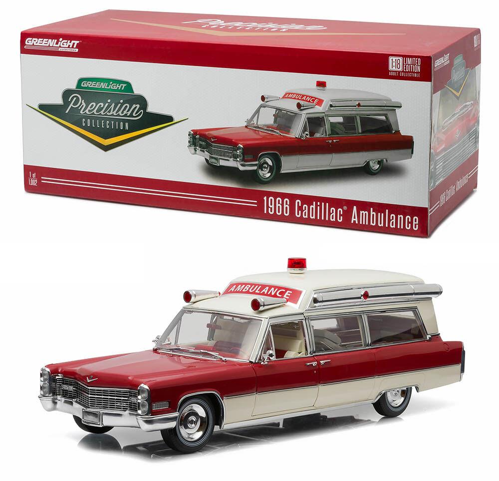 omaggi allo stadio 1966 Cadillac Ambulance s&s s&s s&s 48 in 1 18 verdelight Precision Collection 18003  memorizzare