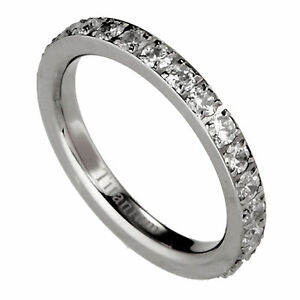 Solid-Titanium-Eternity-Ring-Round-Clear-CZ-around-Size-4-8