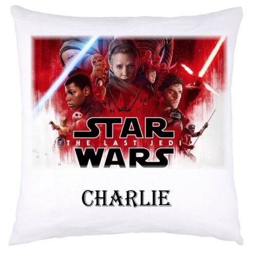 PERSONALISED CUSHION COVER STAR WARS  LAST OF THE JEDI CHRISTMAS BIRTHDAY GIFTS