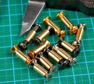 10-sets-M4-6-Screw-Rivets-Knife-handle-lock-DIY-Knife-material-plate-Fastening