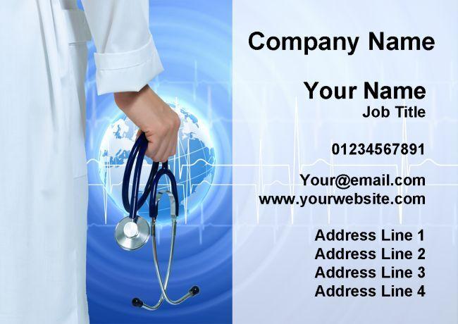 Doctor hospital hospital Doctor infirmière médical cartes de visite personnalisées 1a557d