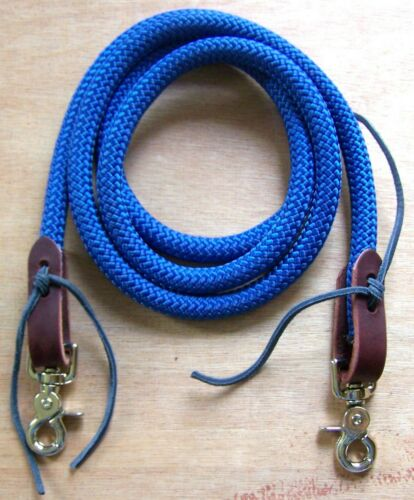 6-9/' Reins Loop Yacht Rope Roping Rein Pony Single Barrel Contest Trail DB black