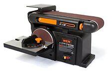 """Combination Sander 6"""" Disc Bench Top Belt Woodworking Kit Sander Cast Iron Base"""