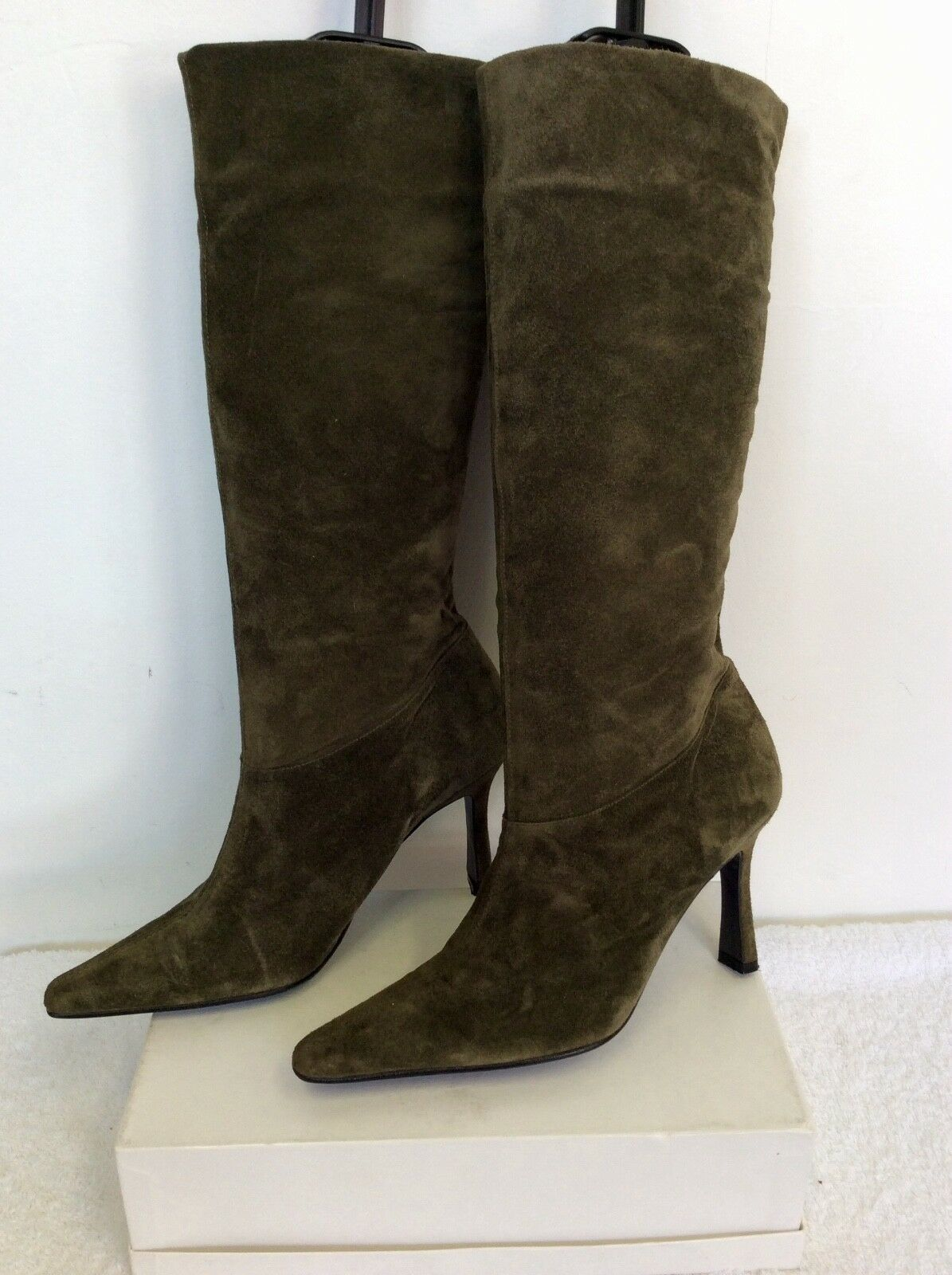 SHELLYS GREEN SUEDE KNEE SIZE LENGTH Stiefel SIZE KNEE 3.5/36 a1dff0
