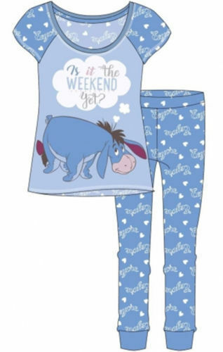 Women/'s Girl/'s Disney Eeyore is it the weekend yet official Pyjamas Pj Set