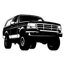 1995 Ford Bronco Truck Clipart Vector Clip Art Graphics Dxf Svg Eps Ai Png Pdf