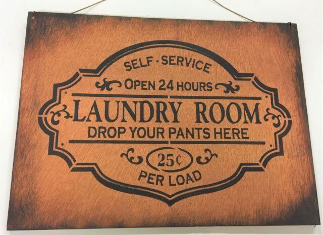 Metal Tin Sign laundry drop your pants here Decor Pub Bar Home Vintage Retro