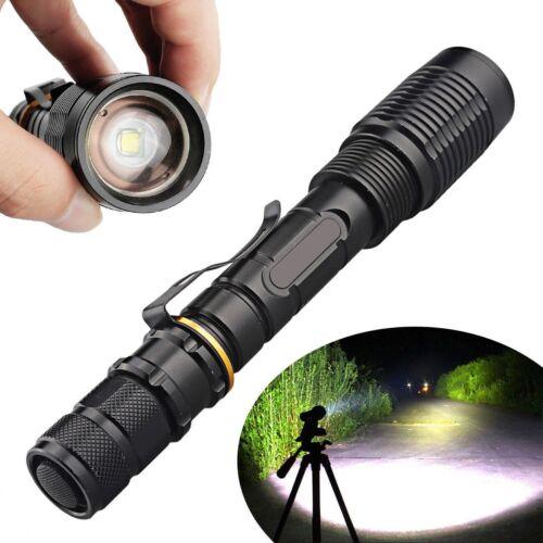 350000Lumens Tactical Police T6 LED 5Modes 18650 Flashlight Aluminum Focus Torch