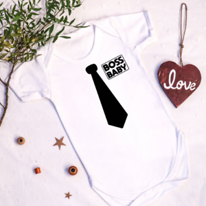 Boss Baby Vest Cute Birthday Little Suit Tie Funny Lil Brother Party Grow Gift