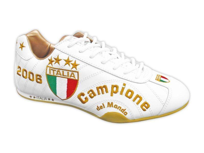 SPOOKS  ITALIEN    CAMPIONE  EM   WM  SCHUHE  LEDER  NEU  WEIß Fan Artikel Gr  38 426b84