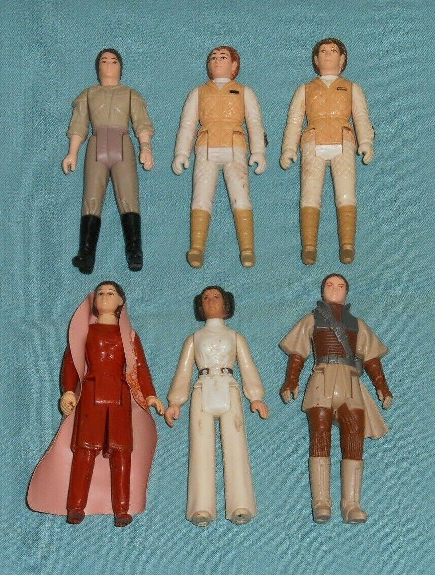Vintage STAR WARS FIGURE LOT  198 Princess Leia Organa Bespin Hoth Poncho Boushh