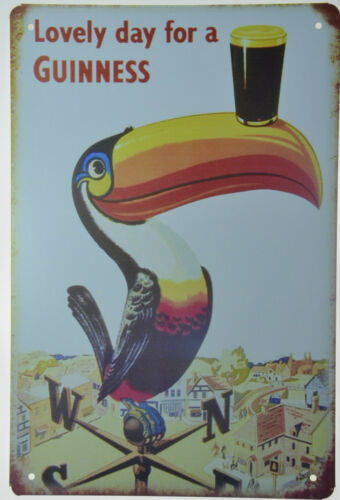 "Lovely Day for a Guinness Toucan Draught Beer TIN METAL SIGN BAR PUB 8/""x12/"" NEW"