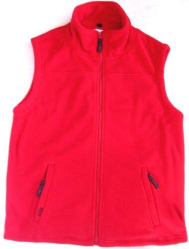 Brick Gilet fleeceweste Bodywarmer bigsize Vest Unisexe Grande Taille Rouge m-8x XL