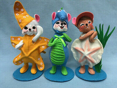 "261220-261320-261420 NEW Annalee 2020  Set of 3-6/"" Wannabe Beach Mice 2020"