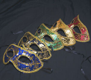 Wedding  Mens Prom Party Masked Venetian Style Mask Masquerade Velvet
