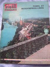 vie du rail 1963 911 FUMEL ET MONSEMPRON-LIBOS ROYAT CHAMALIèRES RIOM