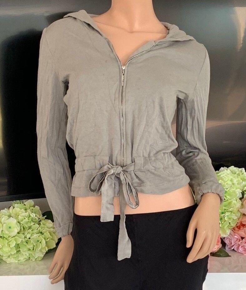 DIOR Grey Frontal Logo Zipper Sweater Jumper (retails )
