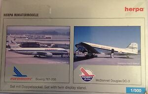 BOEING-767-200-y-MC-DONNELL-DC-3-PIAMONTE-AIRLINES-escala-1-500-HERPA-514866