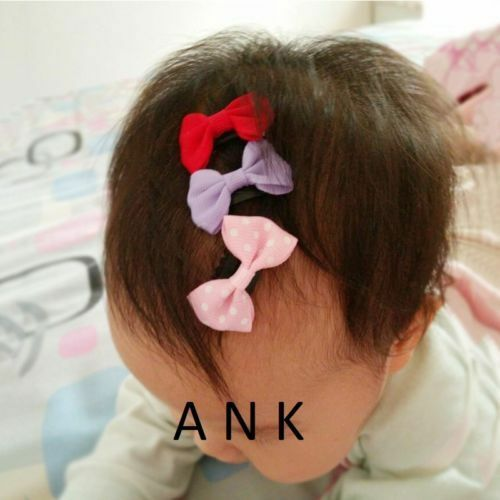 1-20x Kids Baby Girl/'s Ribbon Hair Bow Mini Latch Clips Hair Clip Hairpin LOT