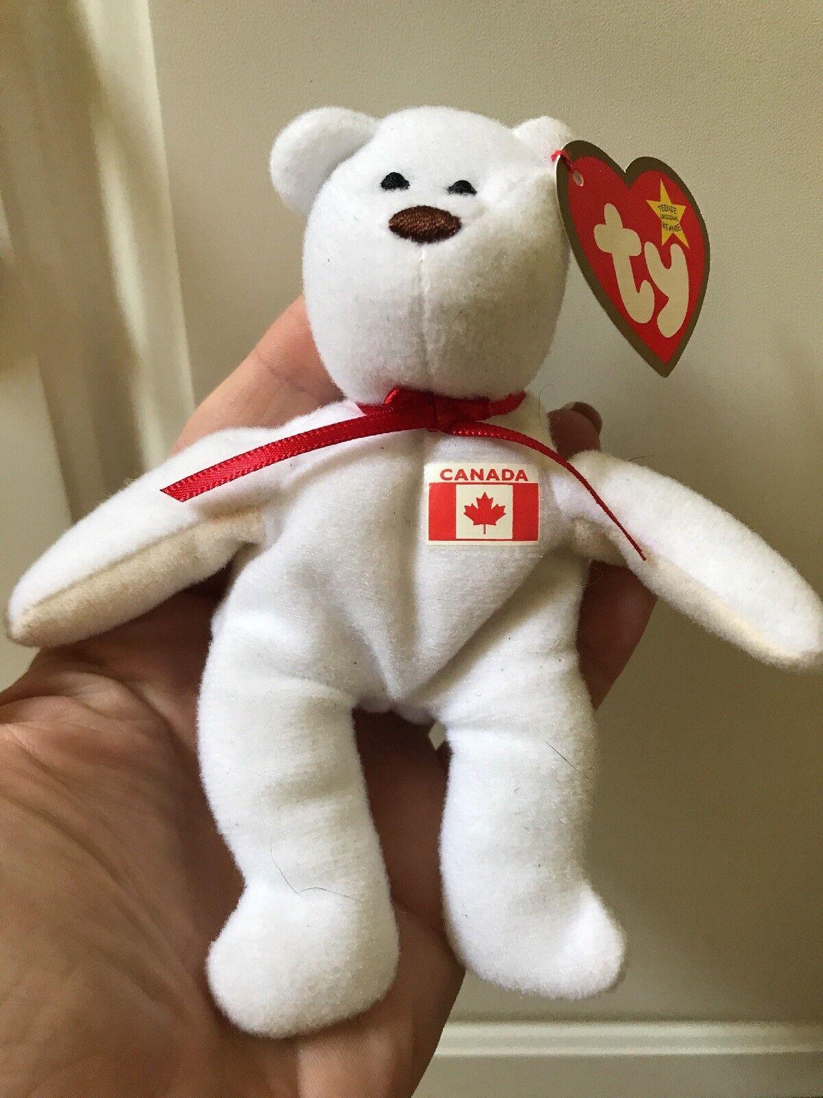 Ty beanie baby tragen weiße ahorn kanadischen   kanada - flagge 1993 mcdonalds
