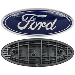Image Is Loading Ford Truck Logo Oval Front Grill Emblem Badge