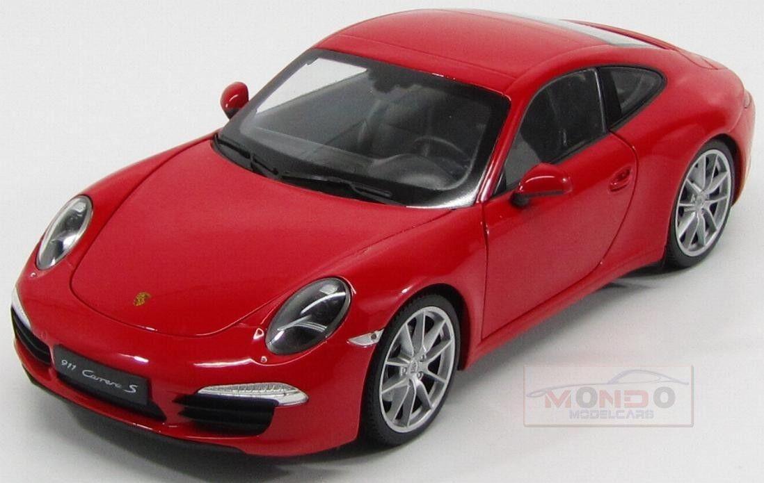 alta qualità Porsche 911 991 autorera S 2013 2013 2013 rosso Welly 1 18 WE18047R  garanzia di credito