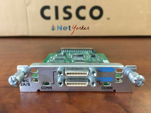 Cisco HWIC-2A//S • 2-Port Async//Sync Serial WAN Interface Card  ■SameDayShipping■