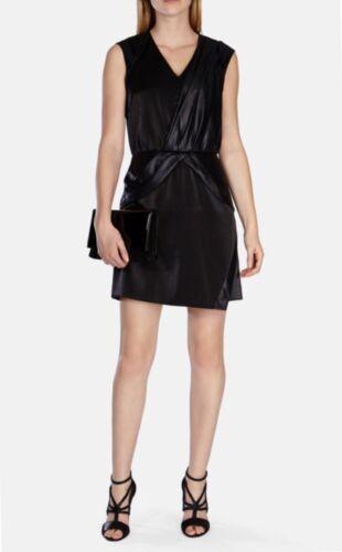 dc00a831209 Millen Front Mini belagt Karen Draped 14 Dress Size Black dq4xOg7