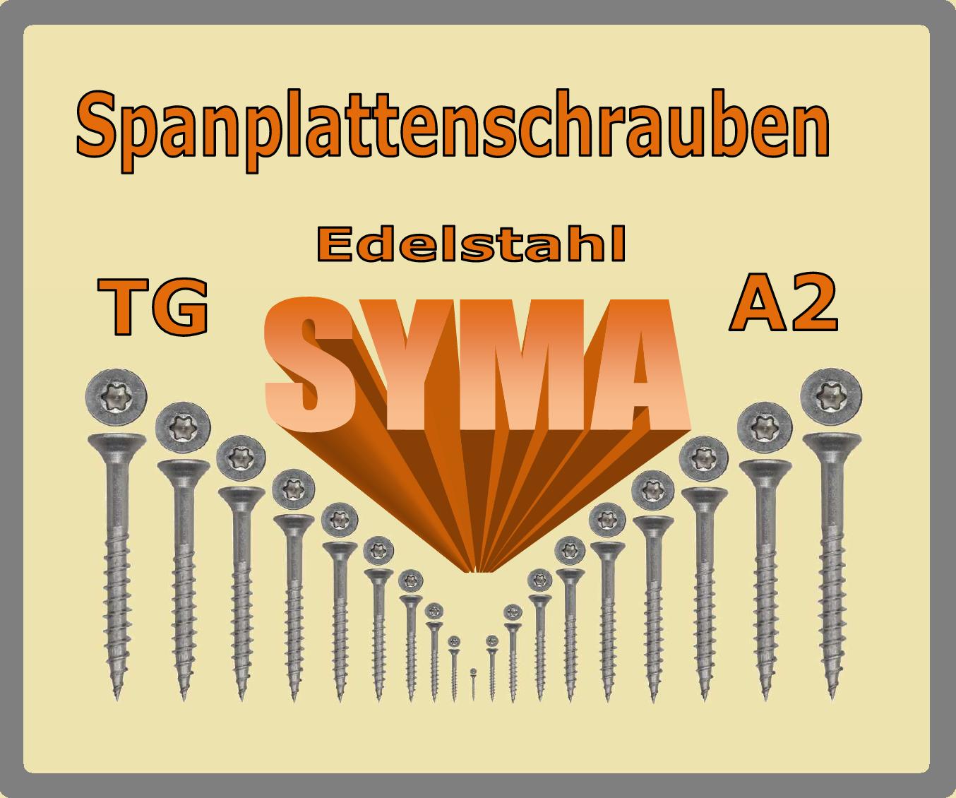 Spanplattenschrauben TORX Edelstahl A2 V  4,5 X 35 mm mit Senkkopf TG  | Mangelware