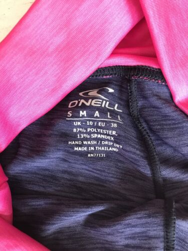 Oneill Womens Fitness Leggings High Waist Bnwt Uk10 Navy//berry