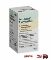 Roche Accutrend Triglycerides Test Strips 25 Diabetic Stripes - Free Shipping