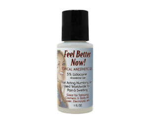 Feel Better Now! 1oz Topical Anesthetic Permanent Makeup Tattoo ...