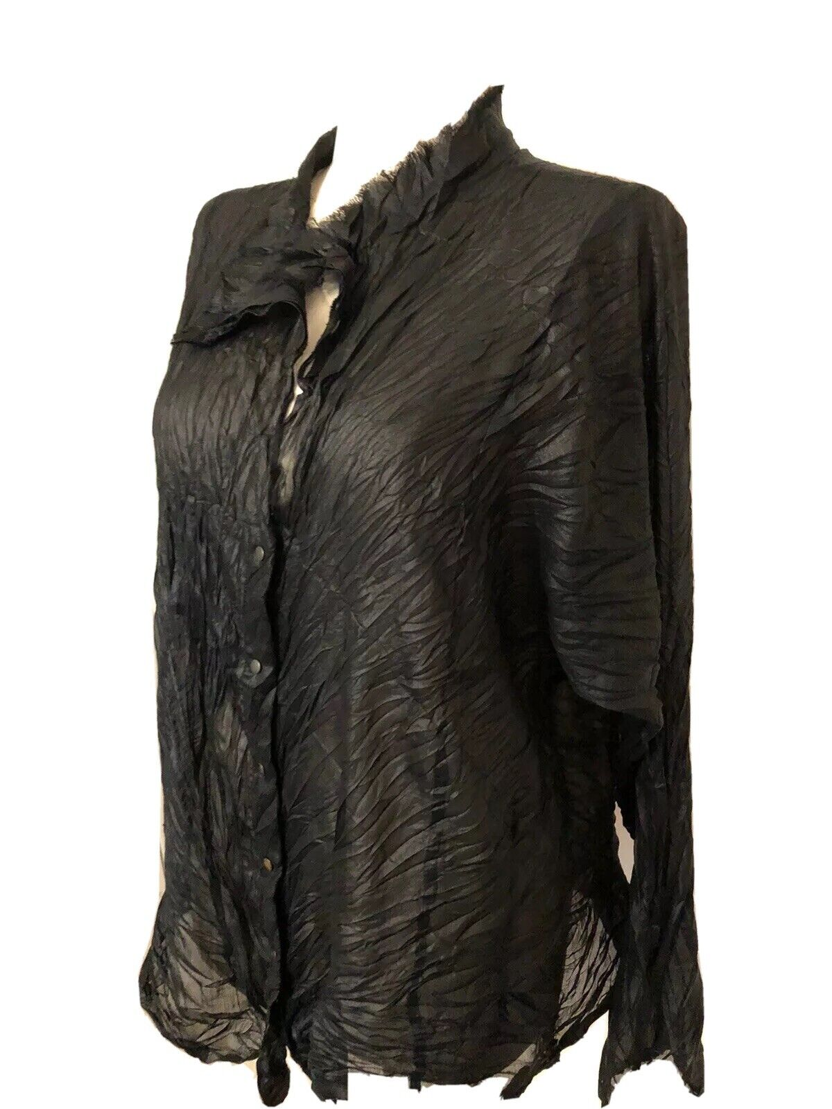Babette Light Weight Semi Shear Crinkled Blouse T… - image 4