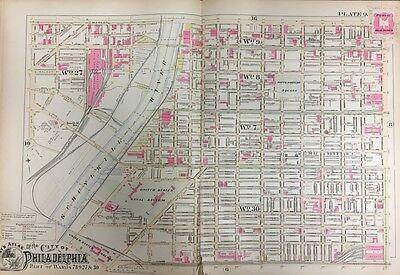 MARY/'S CHURCH ATLAS MAP 1908 PHILADELPHIA PENNSYLVANIA RITTENHOUSE SQUARE ST