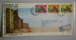 FDC-Singapore-1967-Asian-Housing-Congress-3v-Stamps-Cover