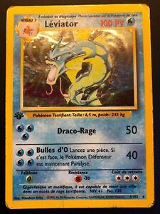 Carte-Pokemon-LEVIATOR-6-102-Holo-Set-de-Base-Wizard-Francaise-EDITION-1