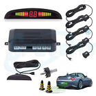 4X Parking Sensor Car Reverse Backup Rear Radar System Kit LED Sound Alert Alarm
