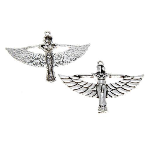 4piece//lot Isis Charm silver Tone Egyptian Goddess Isis Charm pendants 56X42mm