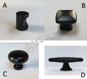 Black-Kitchen-Cabinet-Furniture-Door-Drawer-Handles-Handle-Pull-Pulls-Knob-Knobs