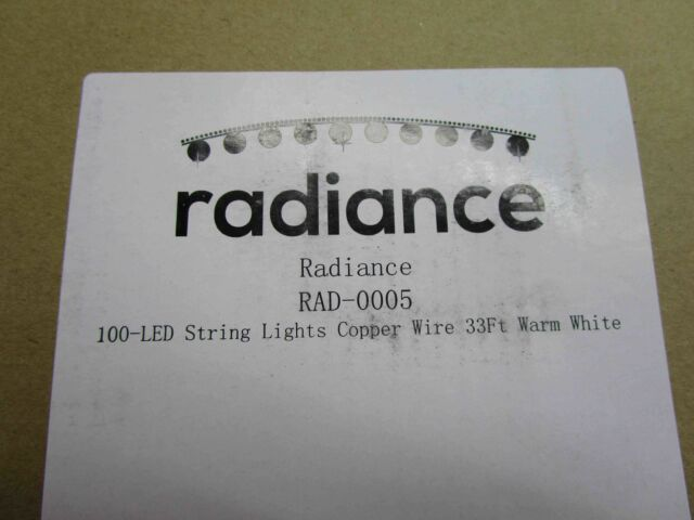 Radiance Dimmable Starry String Lights, 33 ft, Copper Wire, Warm White, RAD- NEW