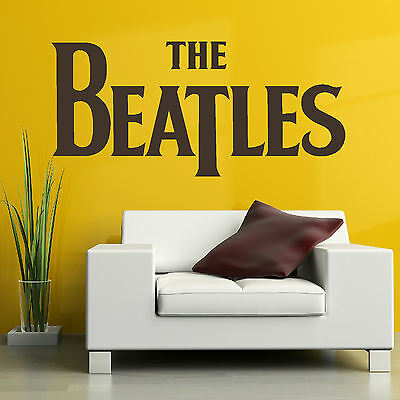 Large The Beatles Logo Wall Sticker in Matt Vinyl Transfer