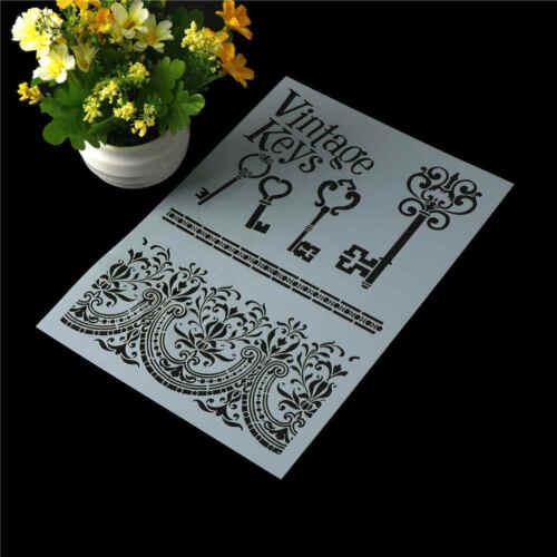 Schablonen für Wände Malerei Scrapbooking Stempeln Stempel Album Dekor BCDE