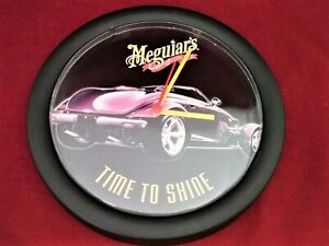 Meguiar-039-s-Car-Care-Detailing-Wax-Since-1901-Wall-Clock-with-Plymouth-Prowler
