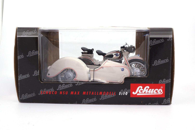 Schuco NSU MAX Motorrad mit Beiwagen Beiwagen Beiwagen - Weiss - 1 10 60b7cd