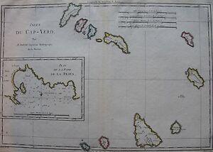 CARTE DES ISLES DU CAP VERT par Bonne carte originale de 1788. Dimensions de la TymTrBQW-09152816-844240064
