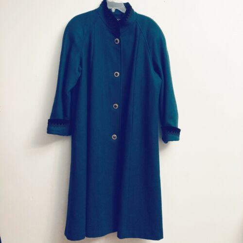 Vintage Jofeld Womens Dark Green Wool Blend Black