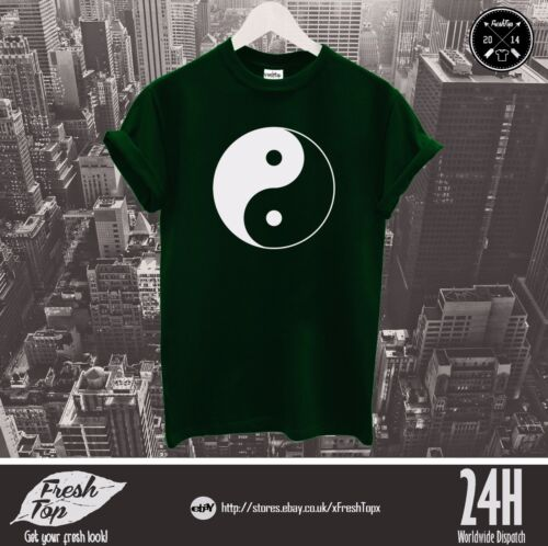 Yin And Yang T Shirt Top Dark Bright Negative Positive Chinese Philosophy