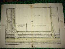Plan Manuscrit XVIIIeme Des Terres De Mr Belpel, Médecin. Canal Des Deux Mers 34