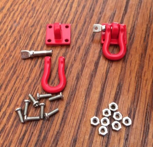 Red Scale Shackle Tow Anchor 1//10 Hitch RC Metal ChoiceRC