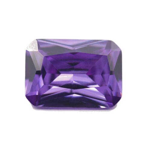 8mm x 6mm Natural Purple Amethyst Octagon Radiant Cut Gem Gemstone